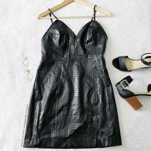 NWT Moon River Faux Crock Slip Dress